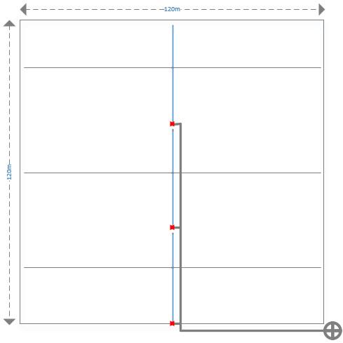 Sơ đồ thiết kế đường ống tưới nhỏ giọt 1.44ha