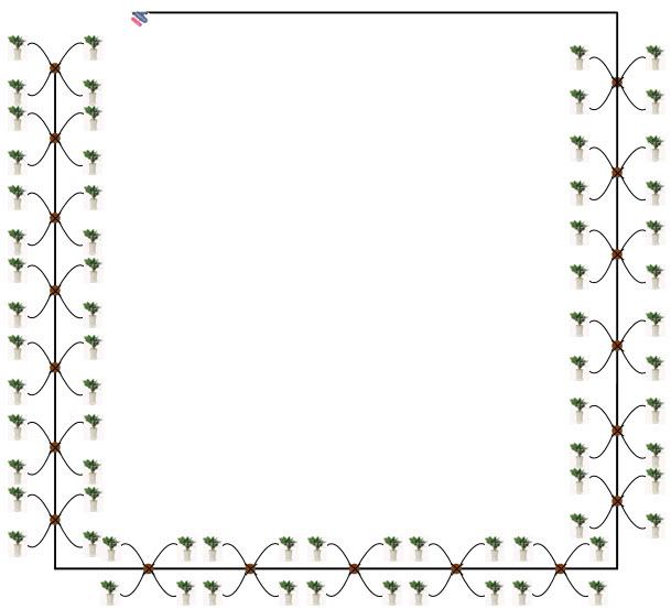 Thiết kế mẫu hệ thống tưới nhỏ giọt chậu hoa, cây cảnh